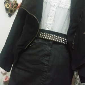 Ann Taylor Loft Black Jean Skirt